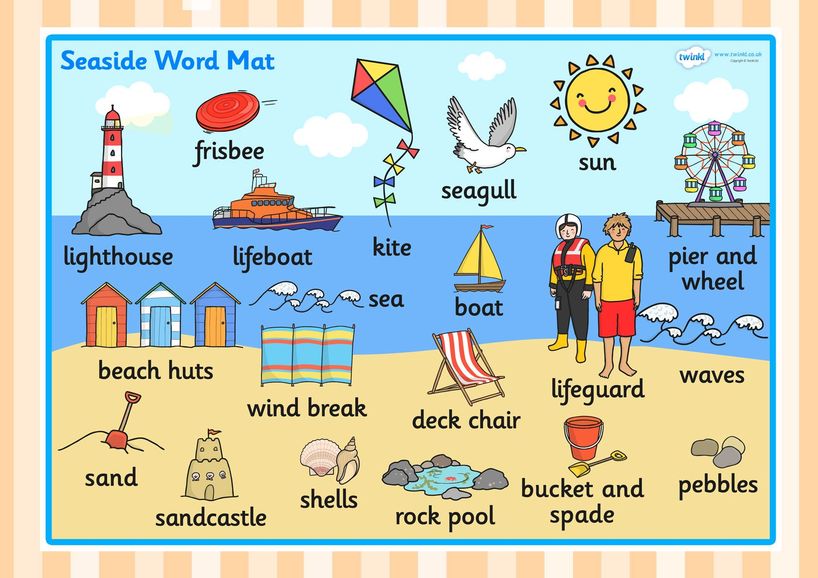The Seaside Word Mat