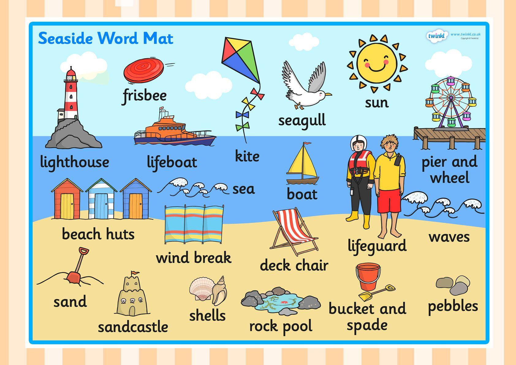 The Seaside Word Mat