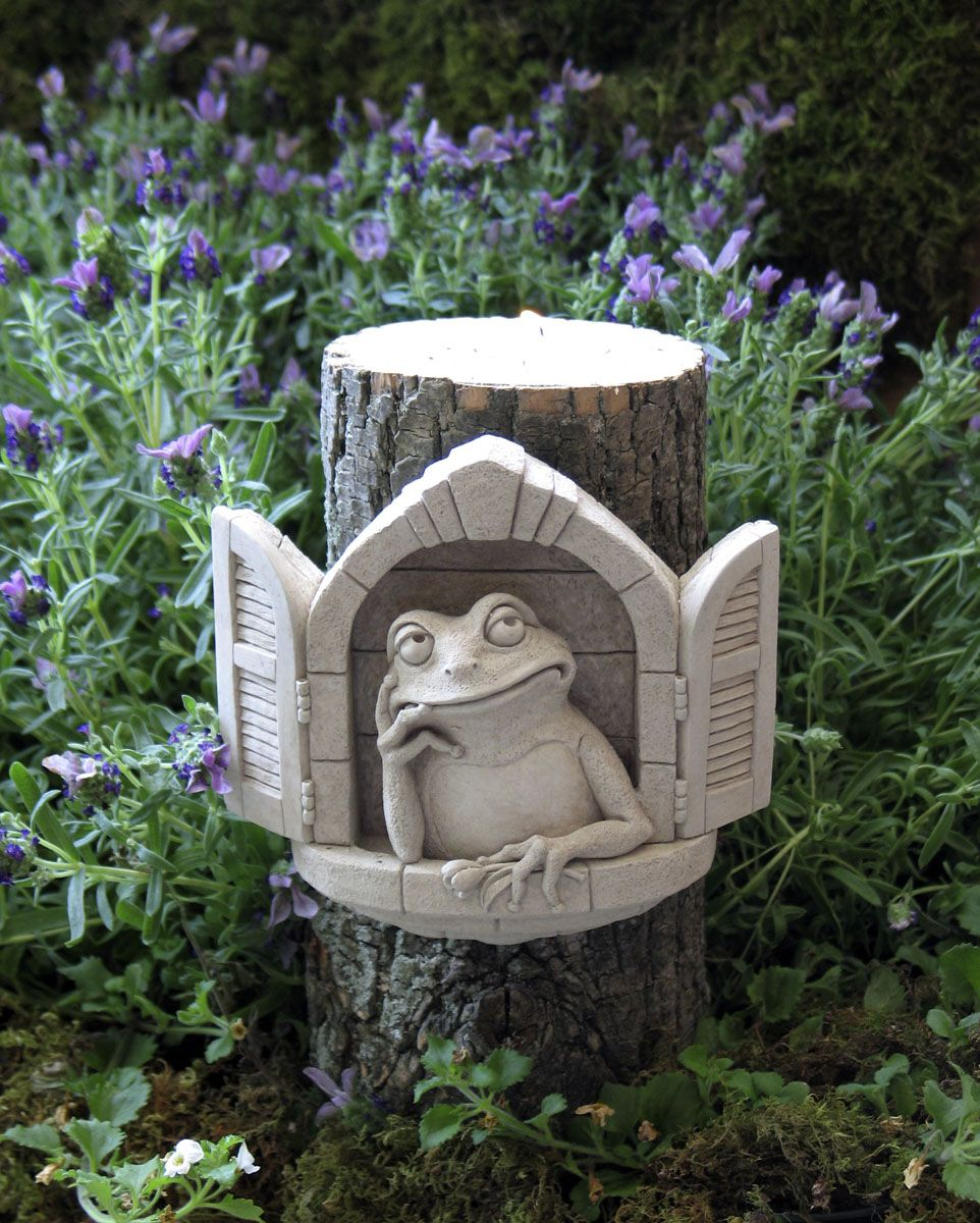 1001 Froggy Dreams #carruth #pondscape #father #dad #pensive #gift #toad #frog #handcast #usa #weatherproof