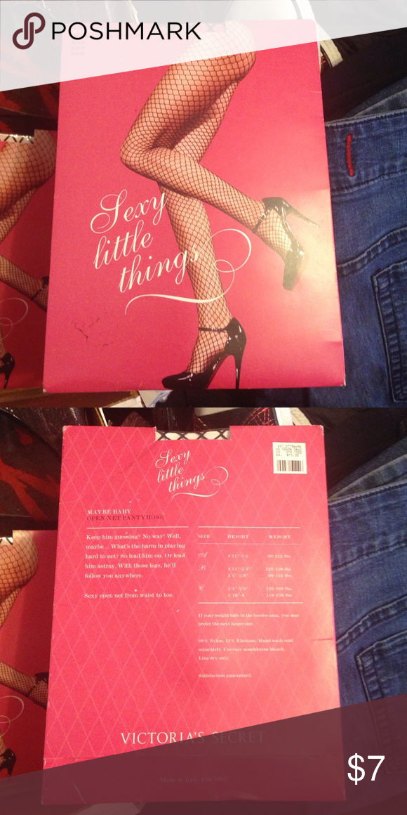 f5f68debe Sexy little things fishnet pantyhose size b black Size b brand new  Victoria s Secret sexy little things fishnet pantyhose black Victoria s  Secret ...