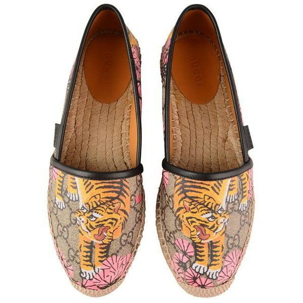 07358c0a080b Gucci Bengal Print Espadrilles (1 215 PLN) ❤ liked on Polyvore featuring  shoes