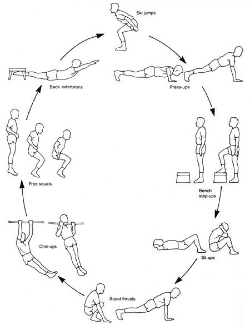 Army Circuit Training Workouts  Core Exercises