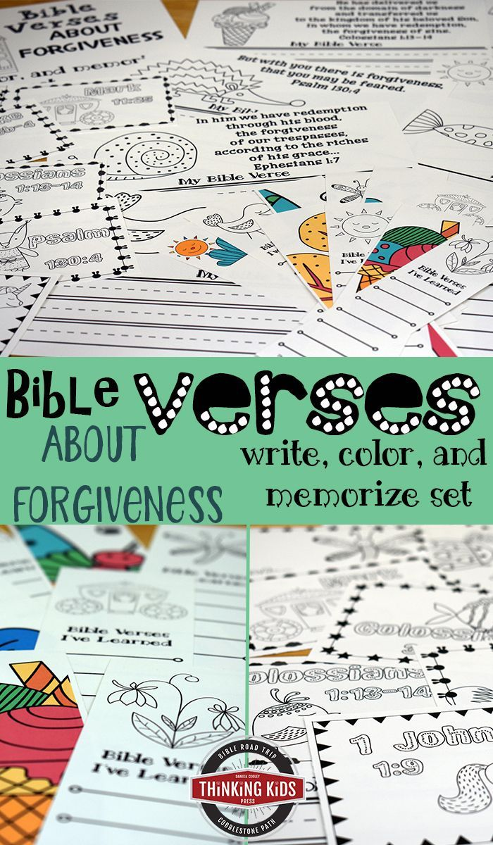 Bible Verses About Forgiveness Write, Color, & Memorize Set ...