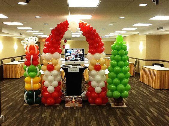 Resultado de imagen para decoraciones con globos - Decoracion de navidad con globos ...
