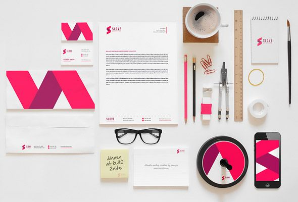 Corporate Identity Mock-up Template | Wireframes & Mockups ...