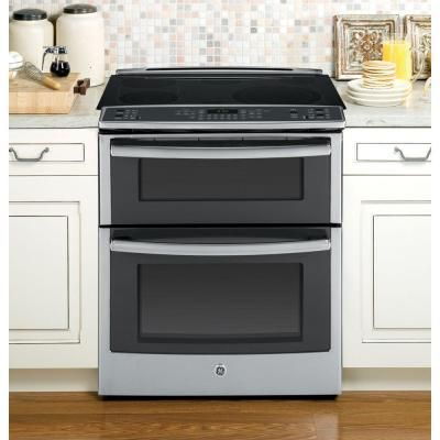 Ge Profile 6 6 Cu Ft Slide In Double Oven Electric Range With
