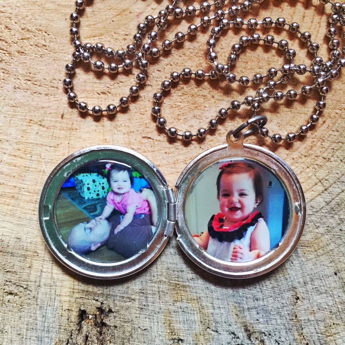 Menus custom two photo locket locket necklace pinterest locket