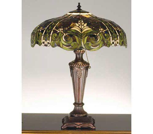 Green Art Nouveau Lamp