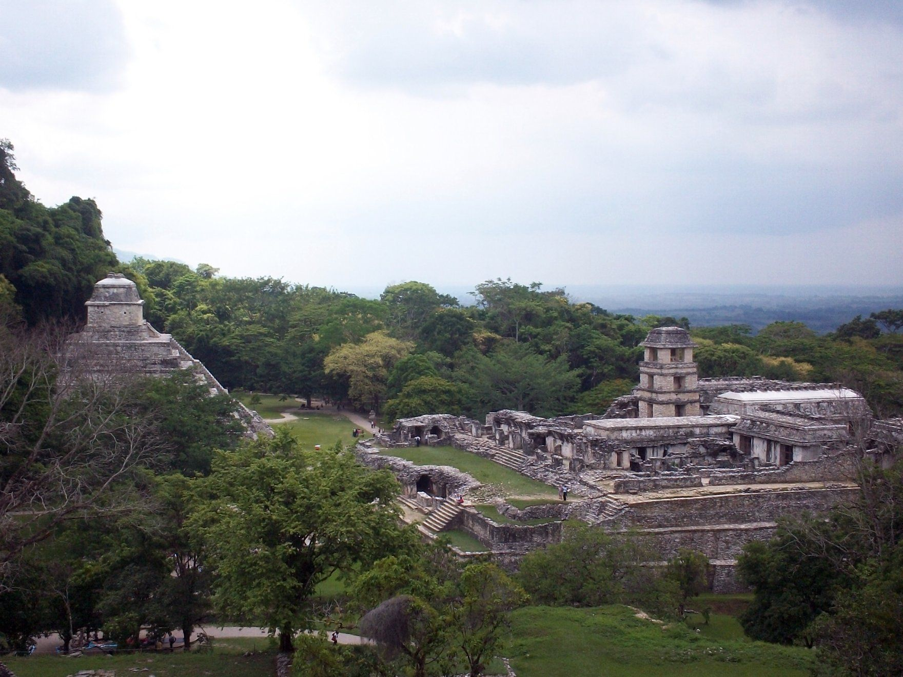 Palenque is a medium-sized site, much smaller than such huge sites as Tikal, Chichen Itza, or Copán.