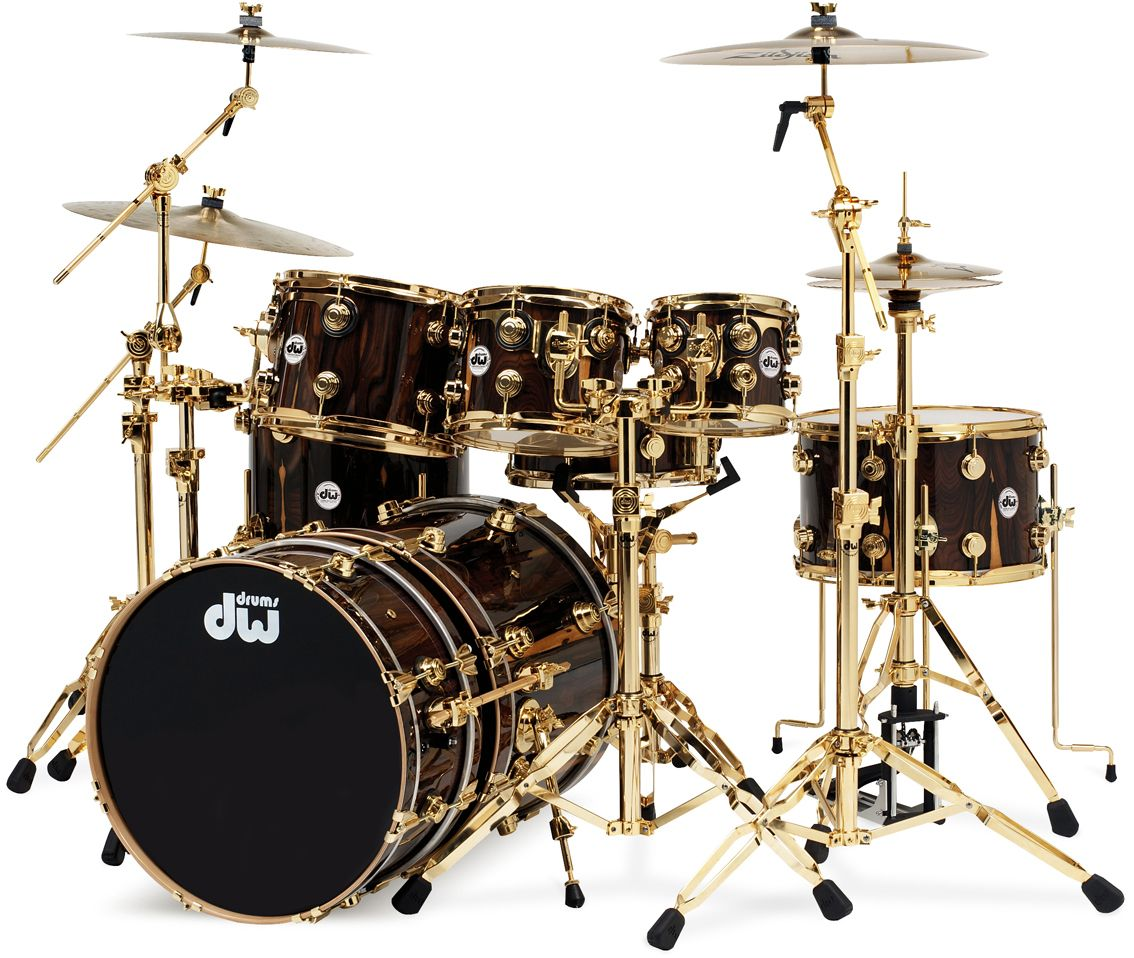 Drum Set DW Black And Gold