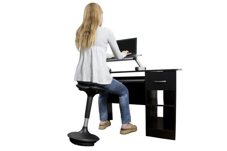 Activate Your Sitting Muscles By Using A Wobble Stool While Working Standing Desk Chair Standing Desk Ergonomics Ergonomic Chair