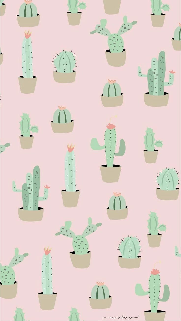 Pin By Jme On Cute Wallpapers Wallpaper Iphone Cute Cactus Backgrounds Cute Wallpapers