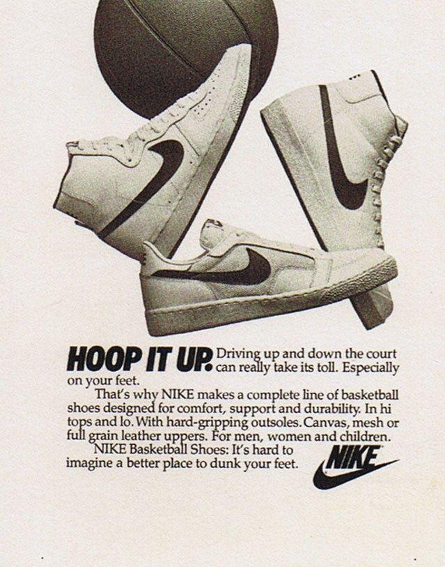 Nike Hoop It Up Advert Nike Ad Vintage Nike Nike Poster