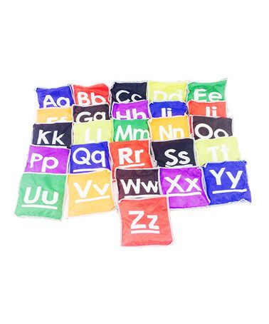 Cool This 26 Piece Alphabet Bean Bag Set Is Perfect Zulilyfinds Creativecarmelina Interior Chair Design Creativecarmelinacom