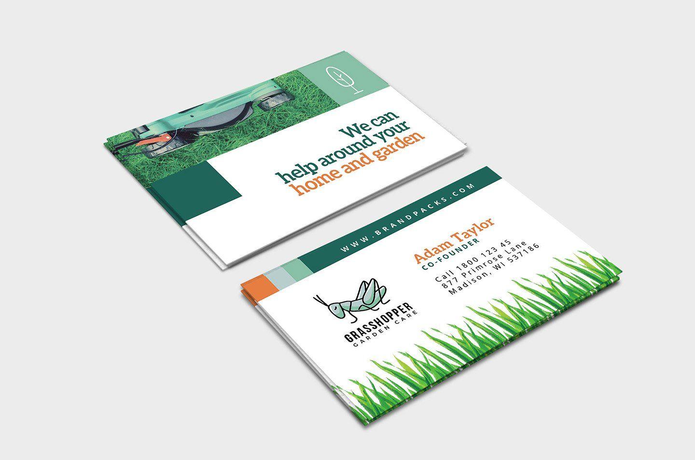 Garden Farm Business Card Agriculture Business Company Business Cards Business Card Logo Design