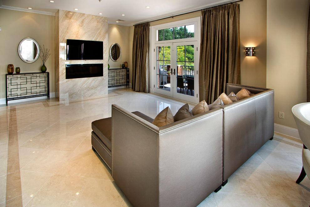 White Marble Floors Dark Brown Wood Paneling On The Walls And Entrancing Living Room Marble Floor 2018