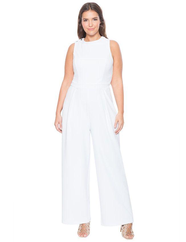 6c58c17104de Lace Up Back Jumpsuit White