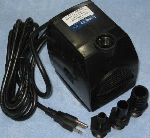Fountain Tech 650gph 120v Submersible Stream Pond Fountain Pump Ft 650 Ft 650l 57 95 Reliable And Ultra Qui Fountain Pump Pond Fountains Cool Things To Buy