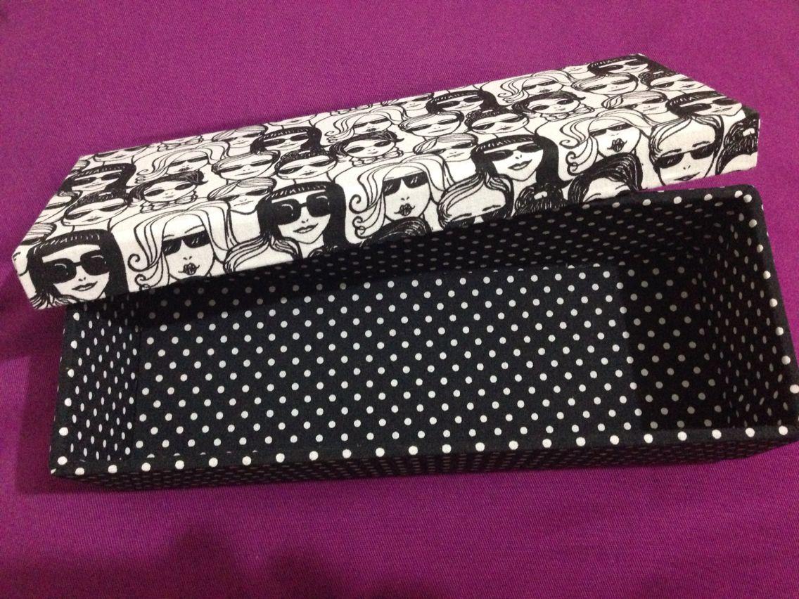Caixa de mdf forrada de tecido
