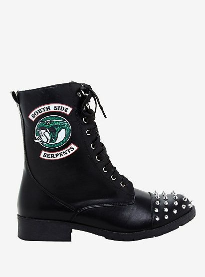 Riverdale Southside Serpents Studded Fold-Over Boots Hot Topic Exclusive #hottopicclothes