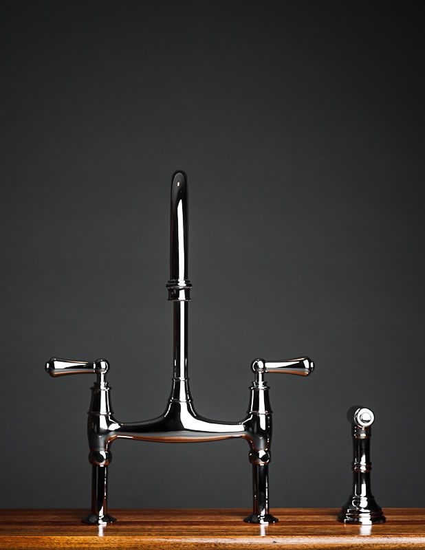 Rohl Perrin & Rowe Bridge Kitchen Faucet with Sidespray tall ...