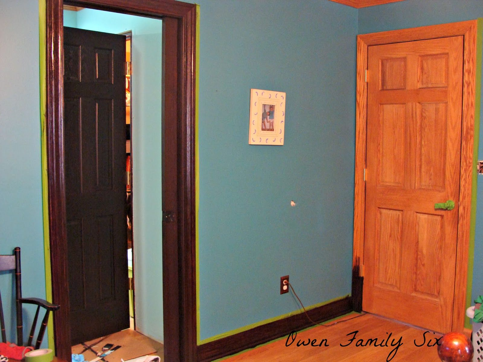 Last week I worked on finishing up the trim in our bedroom. I still need to finish the window sashes though. Here it is before: Her...