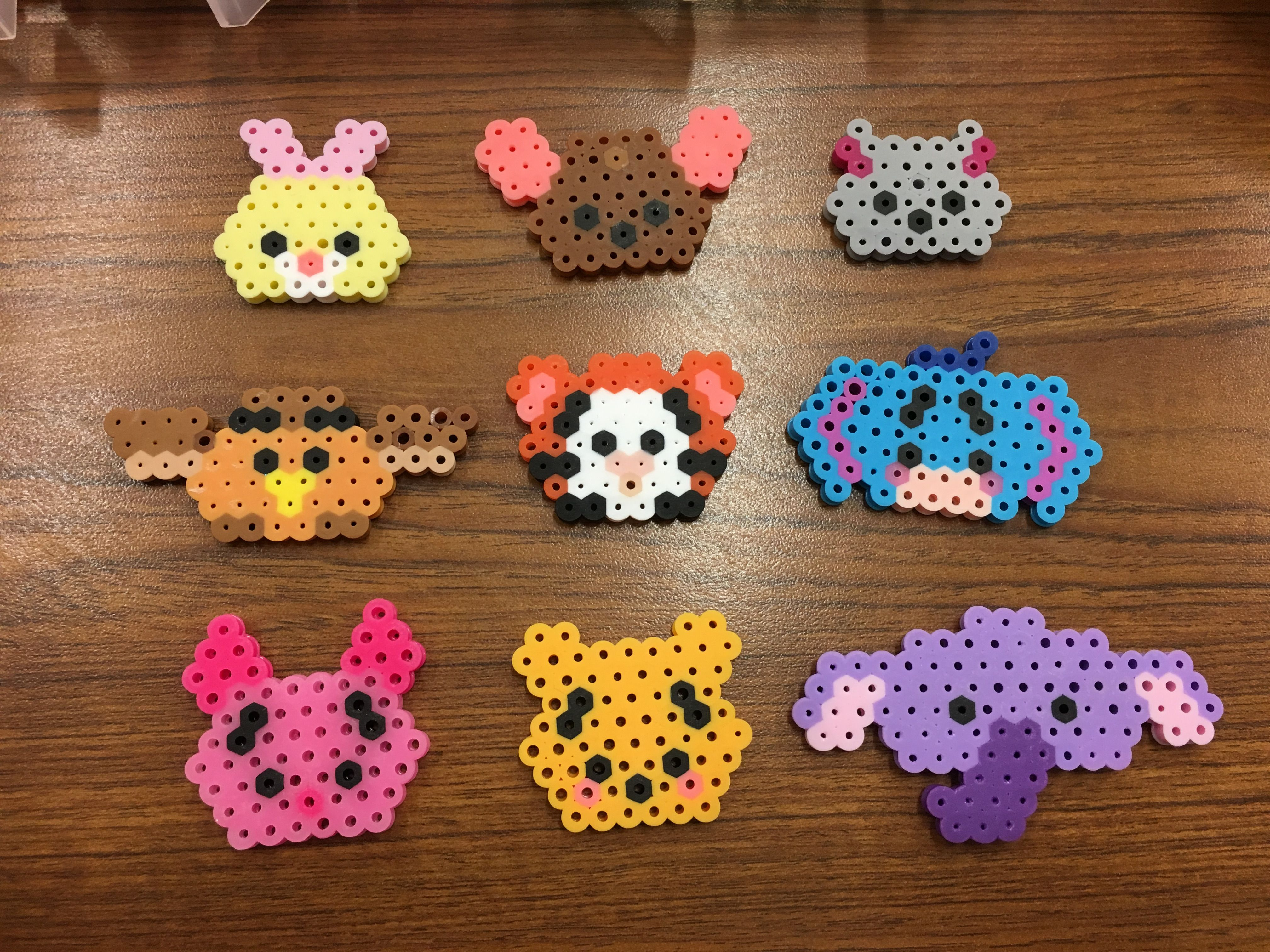 Winnie The Pooh Characters Mini Tsum Tsum Perlers