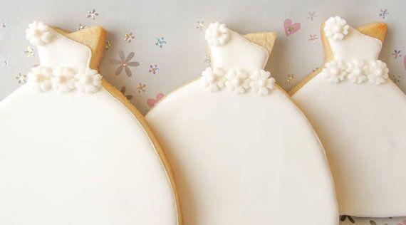 Spring Bride Wedding Dress Cookies wedding by WeddingCookieShoppe, $44.00 #bridalshowerfavors #bridalshower #weddingfavors #weddingcookies #cookie favors #desserttable #desserttableideas