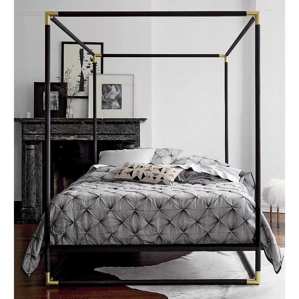 Frame canopy queen bed Canopy King beds and Iron