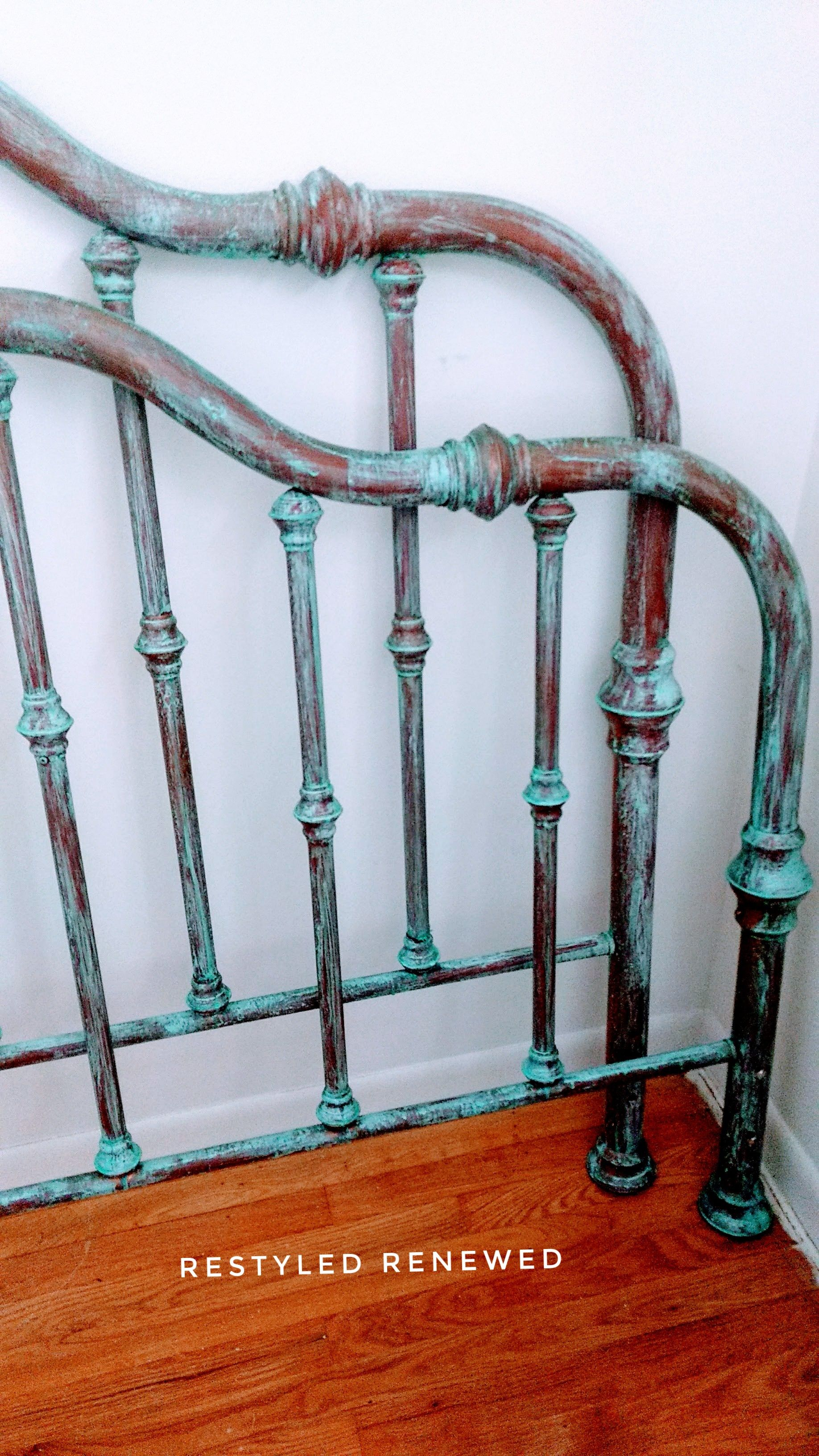 Single Post Brass Bed Painted Iron Beds Painted Bed Frames