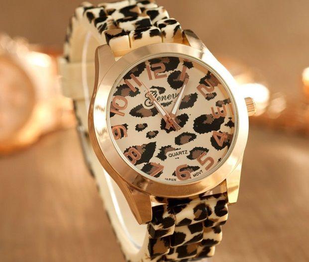 Zegarek Geneva Zloty Damski Panterka Leopard Ladies Dress Watches Women Wrist Watch Womens Watches