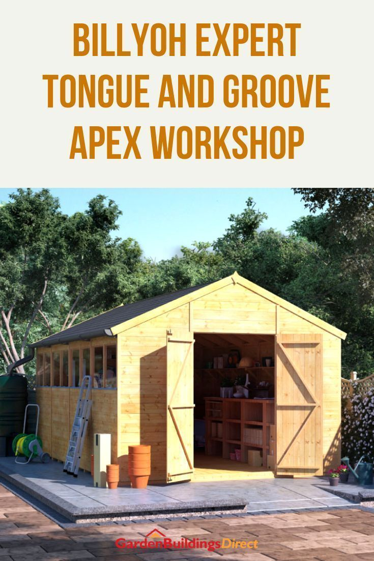 Photo of Designed for a serious workman and garden enthusiast, the Expert Shed delivers utmost working…