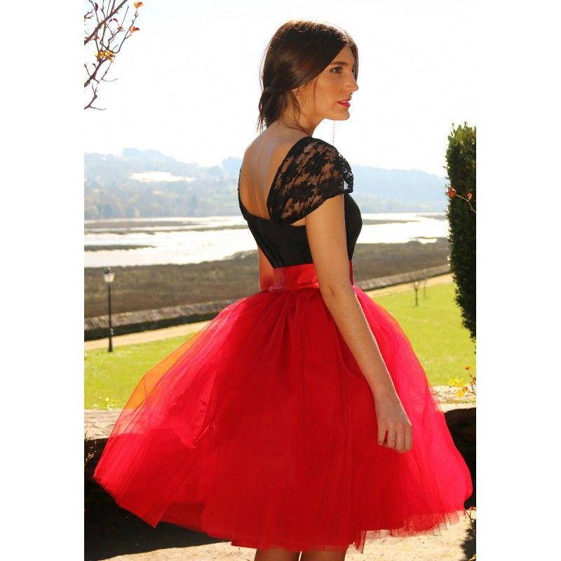 8b8de58140 Falda de tul tipo Carrie en color rojo hecha a medida.