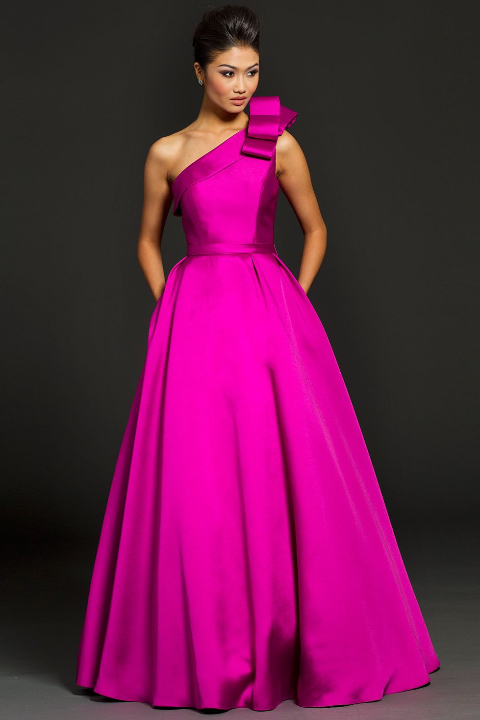 One Shoulder Taffeta Jovani Ballgown | XV | Pinterest | Vestiditos ...