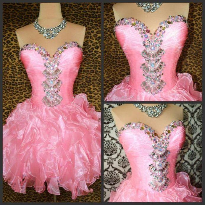 Prom Dress, Homecoming Dress, Pink Dress, Princess Dress, Pink Prom ...