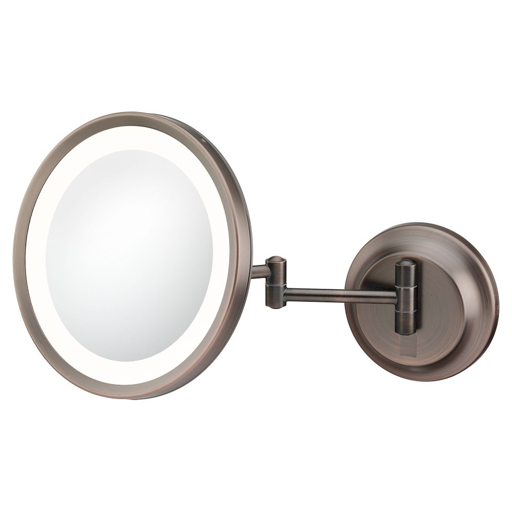 Round Single Sided Led Lighted Wall Magnified Makeup Mirror Bronze Kimball Young Makeup Mirror With Lights Shaving Mirror Makeup Mirror