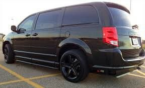Blacked Out Caravan With Images Grand Caravan Cool Vans Caravan