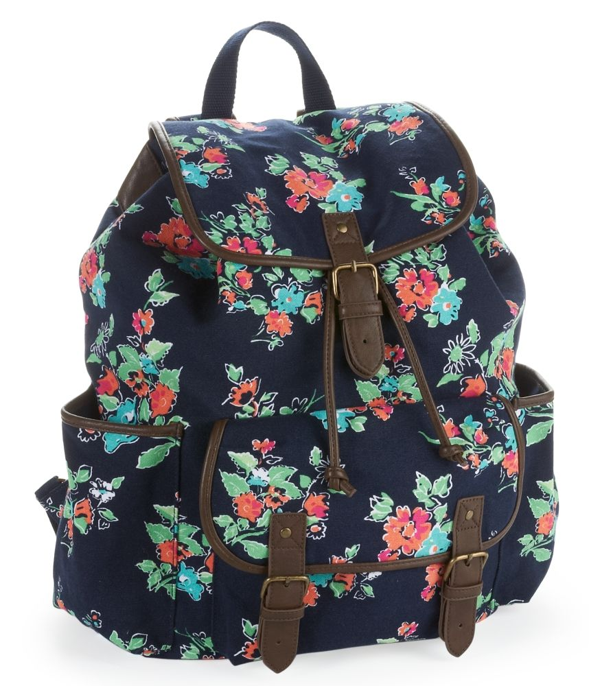 Floral Graphic Buckle Backpack - Aeropostale | dress to impress ...
