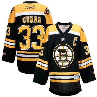 e26aa16fb Reebok Boston Bruins  33 Zdeno Chara Youth Black Replica Hockey Jersey