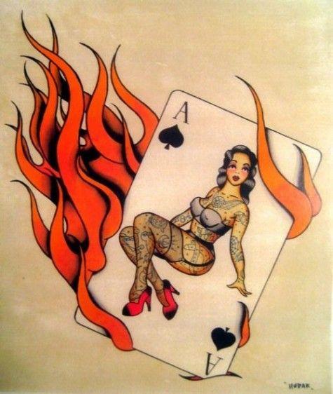 burning ace of spades