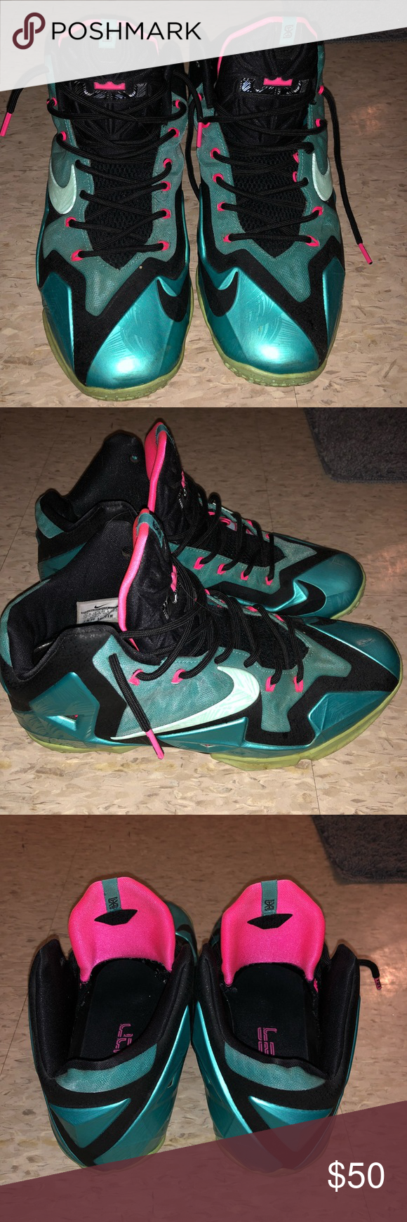 6170784408c7a LeBron 11 South Beach LeBron 11 South Beach Used for ball, just like ...