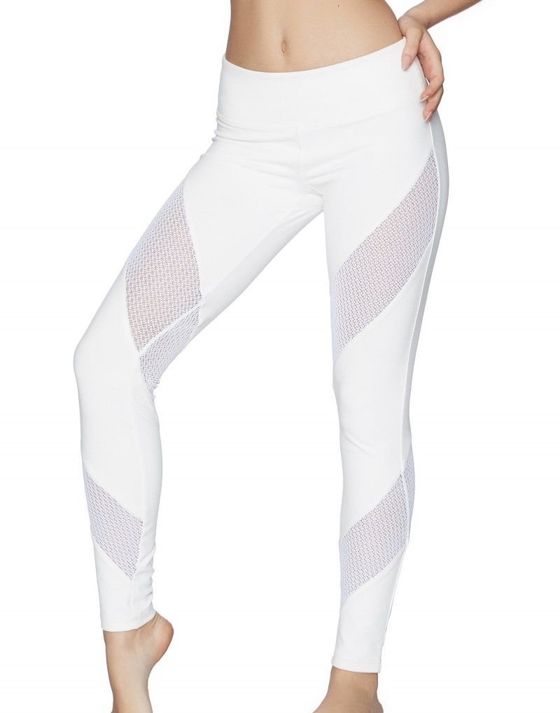 20460810b0749 Jordyn Jones - Mesh Legging - White - Activewear | Beach Bunny ...
