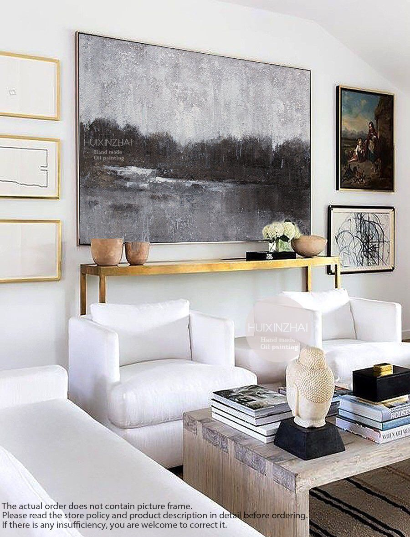 Large abstract painting original art horizontal wall art handmade