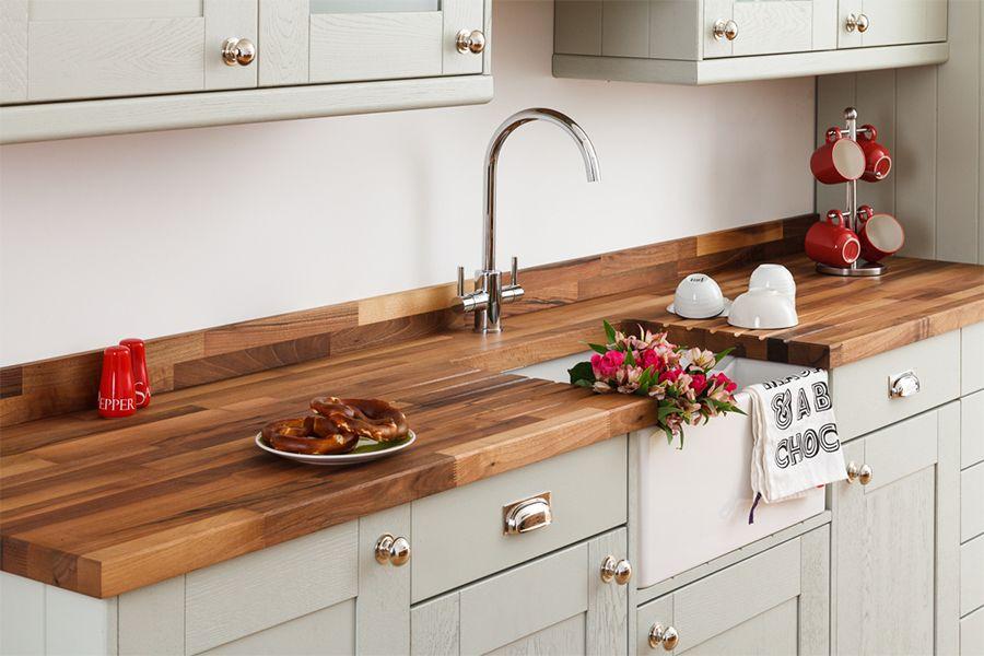 Best Image Result For Grey Kitchen Doors Walnut Worktop 400 x 300