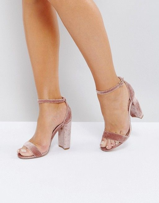 90e2e09a0553 Steve Madden Carrson Blush Velvet Barely There Sandals | Woman shoes ...
