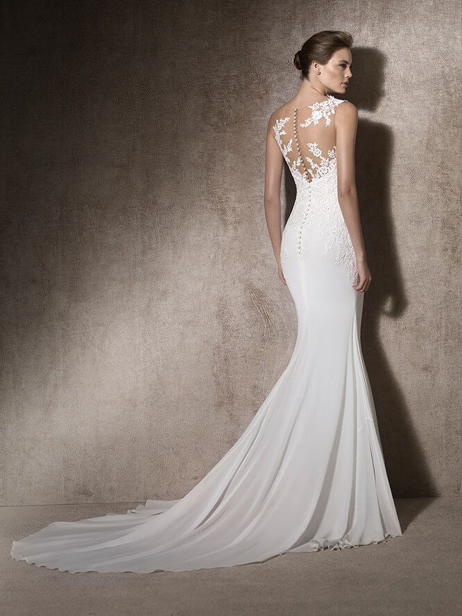 Malta Mermaid Wedding Dress In Gauze Tulle And Guipure St