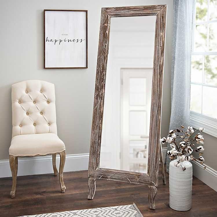 Distressed Aspen Cheval Full Length Floor Mirror in 2020 ... on Floor Mirrors Decorative Kirklands id=62115