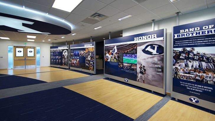 Byu Football Offices Front Lobby Mississippi State Football Byu