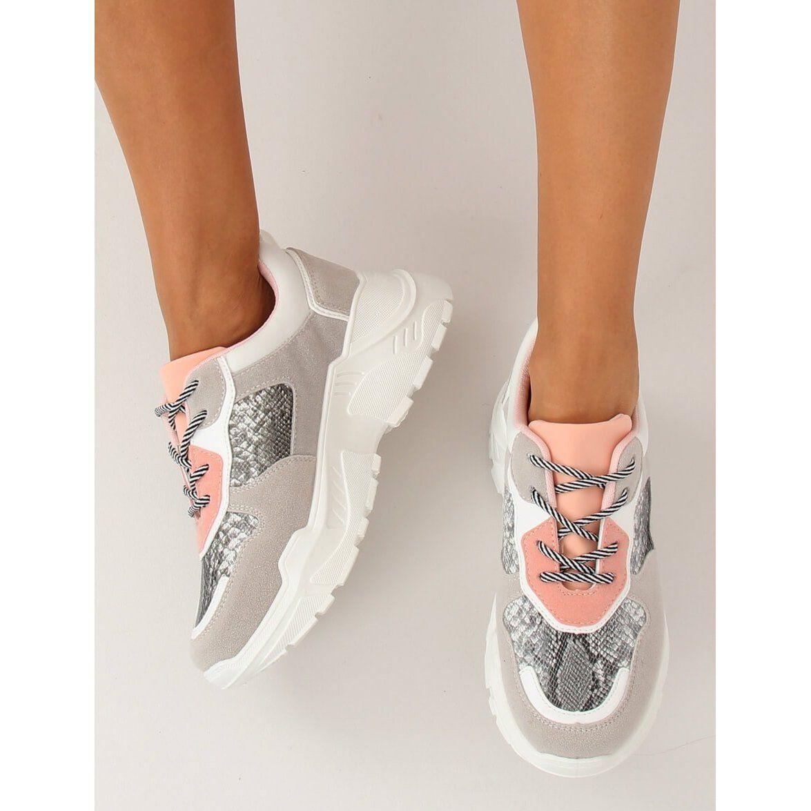 Buty Sportowe Szare Lv88p Snake Sports Shoes Shoes Womens Fashion
