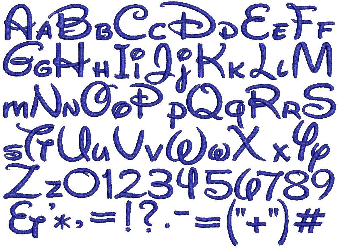 The alphabet Disney style!